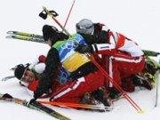 Тимът на Австрия със златен медал в северната комбинация